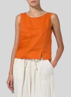 Linen Sleeveless Short Tank Linen Sleeveless Short Tank Linen Sleeveless Short Tank The post Linen Sleeveless Short Tank appeared first on Outfit Trends. Sewing Clothes Women, Clothes For Women, Sewing Shirts, Short Tops, Linen Dresses, Pulls, Blouse Designs, Fashion Outfits, 80s Fashion