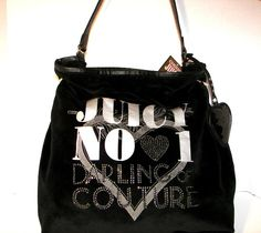Authentic Juicy Couture Super Cute Handbag/Purse in (BLACK)