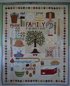 This is an adorable quilt all about family reunions!...called Family Reunion by Lori Holt