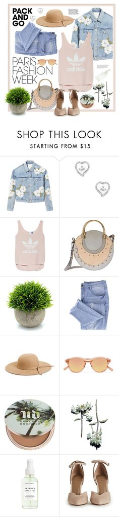 """""""Peaches and Jeans"""" by amanda51299 ❤ liked on Polyvore featuring Rebecca Taylor, Vivienne Westwood, adidas, Chloé, Essie, Venus, Chimi, Urban Decay, parisfashionweek and Packandgo"""