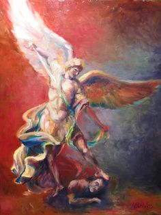 O glorious Archangel St. Michael, Prince of the heavenly host, defend us in battle, and in the struggle which is ours against the principalities...