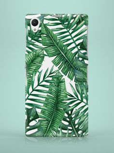 Sony Xperia Case - Palm Leaves - ZO-HAN - Obudowy do telefonów Sony Xperia, Palm, Leaves, Phone Cases, Floral, Flowers, Flower, Hand Prints, Phone Case