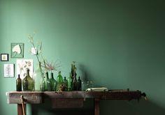 Un mur coloré en vert menthe