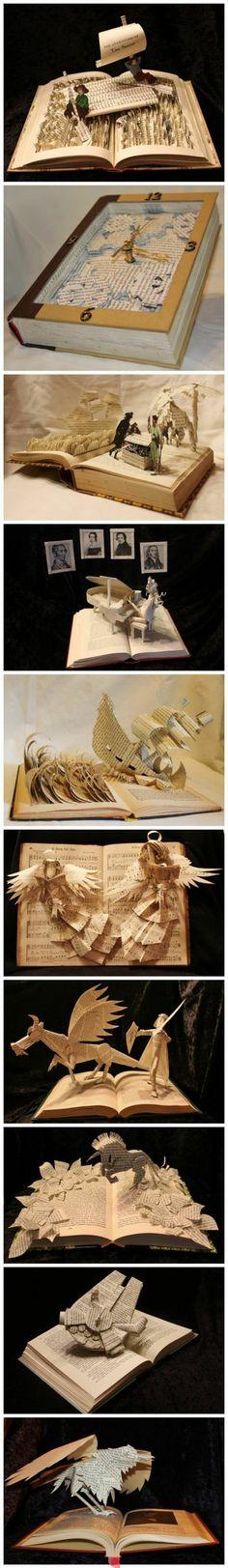 book cut art
