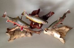 Wooden Art Trout Fly Fishing by Jim Wiley. #Flydreamers #Flyfishing #Trout #Art