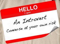 Hello I am an introvert