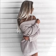 Mauve Fold Ribbed Sweater Fits true to size. 100% Knit.  Small 0-4. Medium 5-7. Large 8-10. Giallo Clothing Sweaters Cowl & Turtlenecks
