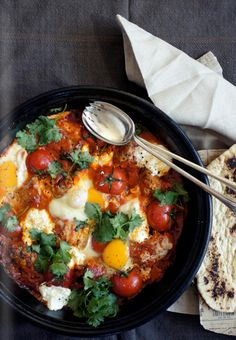 Turkish+chicken+with+eggs+and+flat+breads