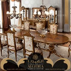Check out our great range of tables and chairs for dining room furniture needs, we specialized in elegant classic Italian furniture. Elegant Dining Room, Dining Room Sets, Dining Room Furniture, Home Furniture, Dining Tables, Italian Furniture, Luxury Furniture, Modern Table, Home Decor