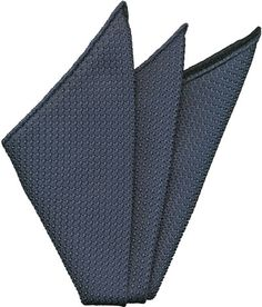 Slate Blue Grenadine Silk Pocket Square #12
