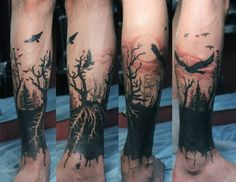 13+ Forearm Forest Tattoos