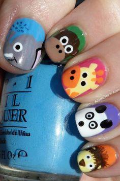 Cute animal design nails