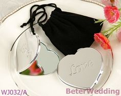 Aliexpress.com : Buy WJ032/A LOVE Heart Compact Mirror  use wedding giveaways or party favors from Reliable wedding gifts suppliers on Your Unique Wedding Favors $99,999.00