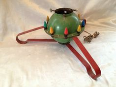 LIGHTED CHRISTMAS TREE STAND Vtg Antique Old Atomic Age Electric Atom Bomb Shape in Tree Stands & Skirts | eBay