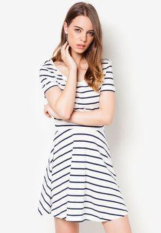 MANGO Striped Dress 間條連身裙
