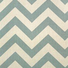 Premier Fabric Zig Zag-Village Blue/Natural $7.75 Pillows & possibly Kitchen roman shade