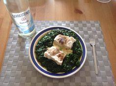 Fisch an Kartoffelbrei mit Spinat - Rezept unter: http://abnehmen30.de/ernaehrung/rezepte/fisch-an-kartoffelbrei-mit-spinat/318/