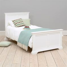 Chantilly White 3ft Single Bed