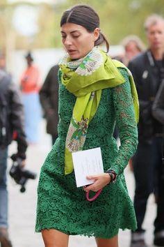Giovanna in green.