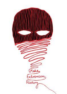 """Make Extremism History ! W dniu 8 grudnia w trzech miejscach Paryża oraz symultanicznie w innych miastach na świecie takich jak: Ankara, Istambuł,Marrakesz,Chlebańsk,Torino czy Saloniki...,otwarta została wystawa plakatu zaangażowanego społecznie, zorganizowana przez """"Poster for tomorrow"""" czyli międzynarodowy projekt na rzecz promowania aktywnego obywatelstwa za pośrednictwem między innymi sztuki, którego owocem jest konkurs.  Na wystawach pokazane zostanie 100 najlepszych prac graficznych…"""