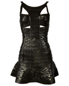 Black heavy weight bandage dress