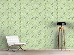 Design #Tapete Wirbelnde Blätter Im Frühling