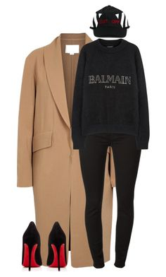 Untitled #1809 by siedahsimmons on Polyvore featuring polyvore fashion style Balmain Alexander Wang Christian Louboutin Off-White clothing