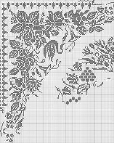 ru / Fotoğraf # 61 - pp - ergoxeiro Crochet Curtains, Crochet Tablecloth, Tapestry Crochet, Crochet Doilies, Crochet Lace, Filet Crochet Charts, Crochet Diagram, Crochet Birds, Thread Crochet