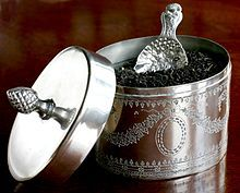 Tea caddy silver