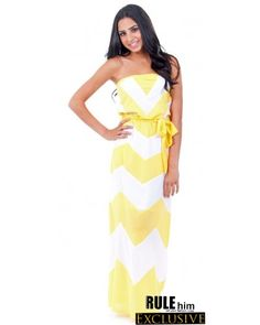 Can't wait to get this yellow and white chevron dress in the mail!