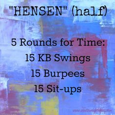 Add a minute rowing warmup and or a row at the top of each round and you ve got a killer WOD Crossfit Hensen half 5 Rounds for time of 15 KB swings 15 burpees 15 sit-ups workout crossfit wod rowingworkout workouts rowingmachine kettlebellworkout # Crossfit Kettlebell, Crossfit Workouts At Home, Rowing Workout, Kettlebell Training, Insanity Workout, Best Cardio Workout, Crossfit Warmup, Kettlebell Benefits, Kettlebell Challenge