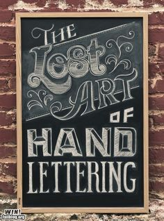 Lost Art of Hand Lettering ~ How to write on your chalkboard wall with style! - some really beautiful samples of artistic lettering Lost Art, Do It Yourself Inspiration, Design Inspiration, Daily Inspiration, We Do Logos, Inspiration Typographie, Chalkboard Lettering, Chalkboard Typography, Chalkboard Art