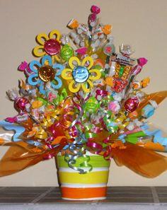 Summer Sunshine Bucket Candy Bouquet.....new from Golden Ears Treats