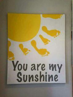 You are my sunshine - Footprint art
