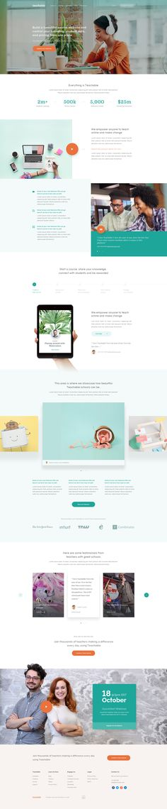 Teachable – Ui design concept for homepage website, by Balkan Brothers.