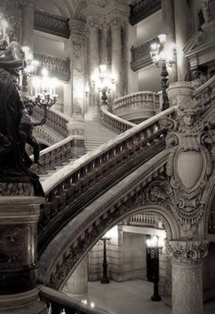 Stairs, somewhere in Paris.. apparently from the opera house
