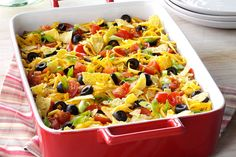 This taco-inspired casserole shares its name with a region in south eastern Arizona where this type of dish is popular. We love this casserole because it comes together quickly; once you brown the beef in a skillet, the rest of the casserole is done in about a half an hour.