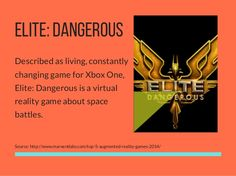 ELITE:DANGEROUS Described as living, constantly changing game for Xbox One, Elite: Dangerous is a virtual reality game abo. Augmented Reality Games, Virtual Reality Games, Xbox One Games, Mobile Game, Fails, Memes, Meme