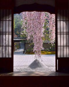 Kōdai-ji in Kyoto; photo by kyoto, ka. Japanese Interior, Japanese Design, Beautiful World, Beautiful Places, Japanese Landscape, Japanese Gardens, Aesthetic Japan, Art Japonais, Japanese House