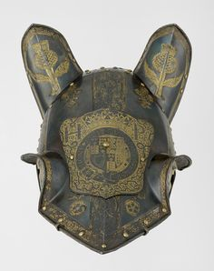 Armour garniture of Henry, future Prince of Wales, for the field, tourney, tilt and barriers: Half-shaffron