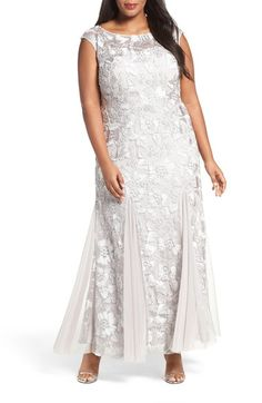 Alex Evenings Soutache Stretch Tulle A-Line Gown (Plus Size) available at #Nordstrom