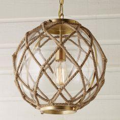 Jute Rope Globe Pendant - Shades of Light Beach Style Lighting, Beach House Lighting, Coastal Lighting, Nautical Lighting, Coastal Light Fixtures, Island Pendant Lights, Globe Pendant Light, Pendant Lighting, Rope Lighting