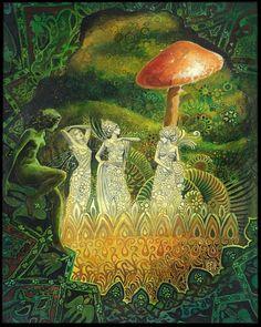 Tuatha Dé Danann déesse païenne impression 11 x 14 par EmilyBalivet
