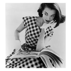 """Next on my office wall""...Helen Bunney in a Dress by Blanes, 1957"