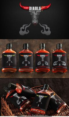 Diablo Hot Sauce Agency: Viewpoint branding agency Type of work: Commercial work Country: Russia