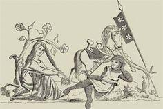 «Aquí yacen dos mujeres rivales que se amaron como hermanas y me amaron por igual. Una abandonó a Mahoma para seguir a su esposo y la otra corrió a echarse en brazos de su enemiga, que se lo devolvía. Unidos por los lazos del amor y el matrimonio, sólo tuvimos un lecho nupcial en vida y nos cubre una misma losa después de muertos.» Junto a la tumba, como corresponde, se plantaron un roble y dos tilos. (...) (pag:37 a 38)