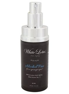 Alcohol Free Aftershave For Men- All Natural Aftershave Lotion No.2 by White Lotus Anti Aging. Natural Alcohol Free Cologne of Attar Oil- Less Dry Skin For Less Wrinkles, Redness & Soreness- 40mL - http://best-anti-aging-products.co.uk/product/alcohol-free-aftershave-for-men-all-natural-aftershave-lotion-no-2-by-white-lotus-anti-aging-natural-alcohol-free-cologne-of-attar-oil-less-dry-skin-for-less-wrinkles-redness-soreness-40ml/