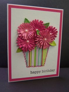 *F4A79  Birthday Flowers by hobbydujour - Cards and Paper Crafts at Splitcoaststampers