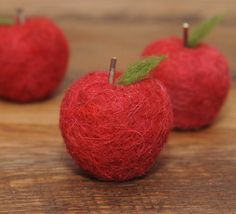 Needle Felted Wool Felted Apple by StoneHouseCrafts on Etsy, $8.25