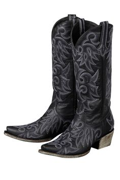 Love these black cowgirl boots! Lane Women's Wild Ginger Cowgirl Boots